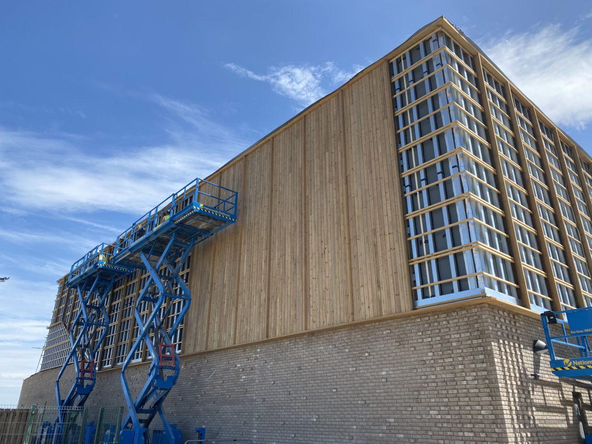 Timber rainscreen facades